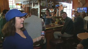 Gina Silva visits Cheers bar in Boston, looks for Dodger fans