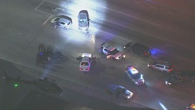 Pursuit ends in Fontana area with reports of shots fired.