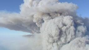 'Woolsey Fire': Giant plume of smoke seen over Santa Monica Mountains