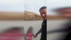 Trucker rescues toddler wandering on busy road
