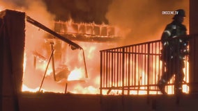 Flames ravage storage facility in Laguna Hills