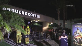 Car crashes into Starbucks for 2nd time in less than a month