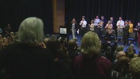 Students in Corona del Mar met with Holocaust survivors