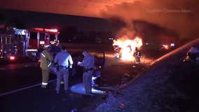 Good Samaritan pulls women from fiery crash in Cerritos