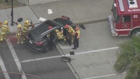Quick work by emergency responders save life of crash victim