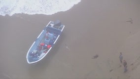 Panga boat lands on Laguna Beach shore; search continuing for occupants