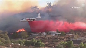 Fire crews battling fast-moving 300 acre brush fire in Murrieta; 5% contained