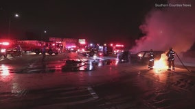 2 killed, man arrested in crash on 605 Freeway in Norwalk