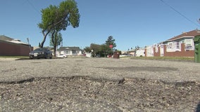 Compton residents demand city fix potholes