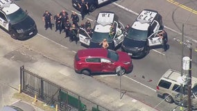 Suspect taken into custody after bizarre chase