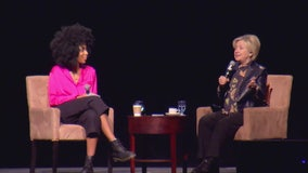 Hillary Clinton speaks at summit for young women at LA Convention Center