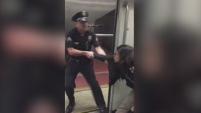 Clash between Metro passenger and LAPD officer caught on video