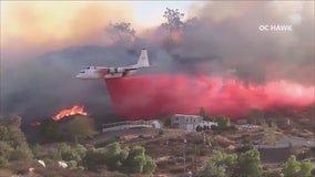 Fire crews battling fast-moving 300 acre brush fire in Murrieta; 10% contained