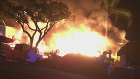 Firefighters respond to explosion, fire at San Clemente home