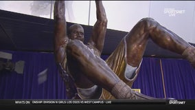 Lakers Unveil Statue Of Shaquille O'Neal Outside of Staples Center