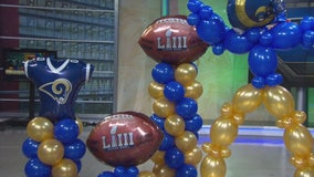 Spectacular Los Angeles Rams balloons for Super Bowl LIII