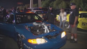 Street racers gather at Irwindale Speedway for legal racing