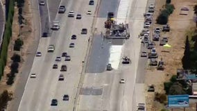 First weekend of 'Swarm' project shuts down eastbound 60 freeway