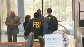 FBI agents serve search warrant at LADWP office