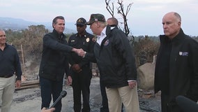 President Trump gets a firsthand look at California wildfire devastation