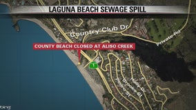 Sewage spill closes Aliso Creek beach area