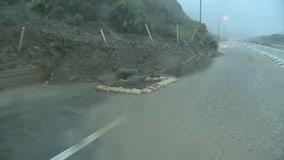 Landslide closes roadway in San Clemente