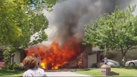 Cell phone camera records fire, homeowner seriously injured