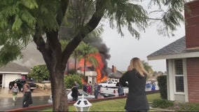 Five dead after plane crashes in Yorba Linda