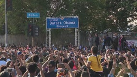 'Barack Obama Boulevard' unveiled in Los Angeles