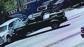 Out-of-control pickup truck caught on video