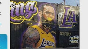 Lebron Mural Vandalized