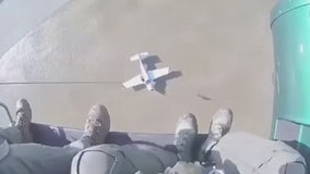 Plane goes down in wash in El Monte