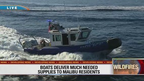 Boats deliver much needed supplies to Malibu residents