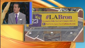 Attorney puts up billboards around LA to lure LeBron James, Paul George
