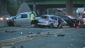 Woman killed, 9 hurt in multi-vehicle crash on 5 Freeway in Irvine