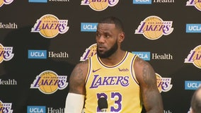 LeBron James answers questions at Lakers Media Day