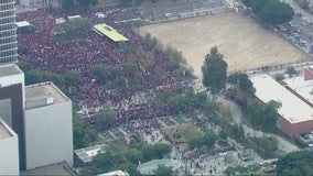 Thousands march on fifth day of Los Angeles teachers' strike