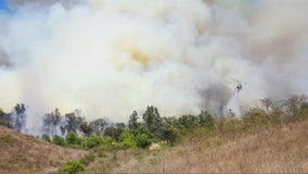 120 acre fire in Chino with zero containment