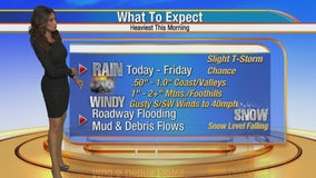Maria Quiban's Wednesday morning weather forecast