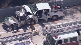 4 dead after collision on 10 freeway in Fontana