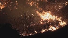 Crews battle two brush fires along 57 Freeway in Brea