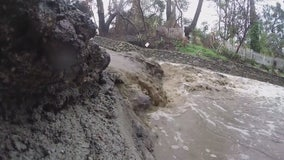 Rushing water continues to cause slides and falling boulders in Malibu