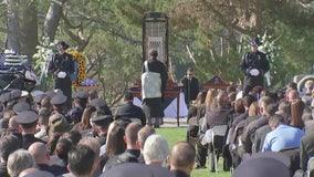 Memorial service held for Gardena officer killed in motorcycle crash