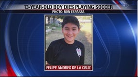 13-year-old boy dies after collapsing during soccer game in Westminster