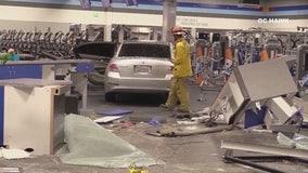 Car crashes into Crunch Gym in La Mirada