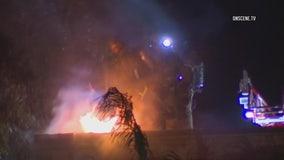 Police investigate church fire in Fontana