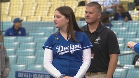 Lauren Canton honored by Dodgers