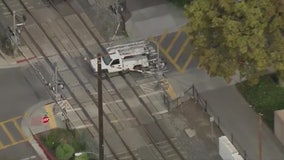 Police pursuit of stolen work truck in LA ends