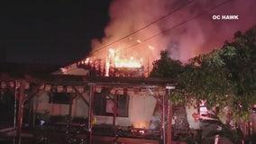 Fire burns Buddhist temple in Garden Grove