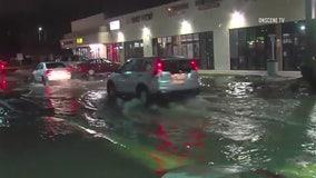 Water main break floods Gardena street